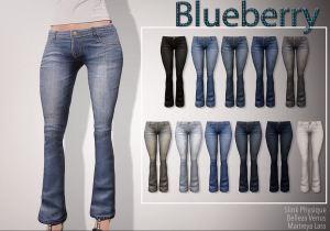 blueberry - slink mait bell - flare jeans