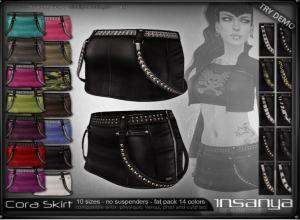 Insanya - biker's fair - cora skirt - physique belleza
