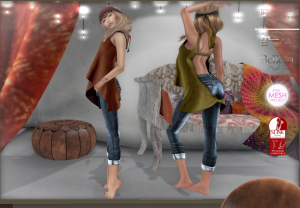 SYS - Chipie Shirt & Boyfriend Jeans - Slink, TMP, Belleza, Maitreya