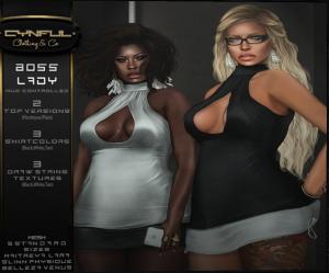 Cynful - Boss Lady top - Maitreya Slink & Belleza