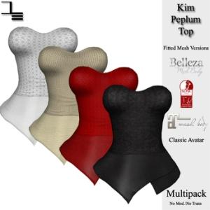 DE Designs - Kim Peplum Top - Slink Belleza & Maitreya