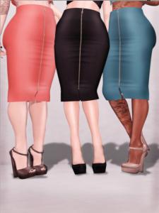 Miss Chelsea - Zipped Pencil Skirt - Slink & Belleza
