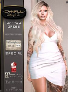 Cynful - Draped Dress @ TDRF - Slink Belleza & Mait