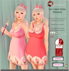 Katat0nik - Ice cream dress @ The Kawaii Project - Slink & Maitreya
