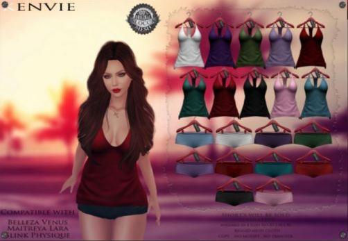 Kenvie - Selly Tanktop & shorts - The Dark Style Fair - Belleza, Maitreya, Slink