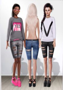 KITJA - Nixi shorts and sweatshirt @ n21 - slink maitreya