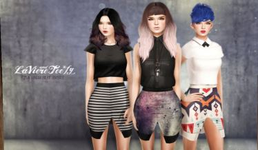 Laviere & Teefy - Zia high slit skirt @ n21 - Maitreya and slink