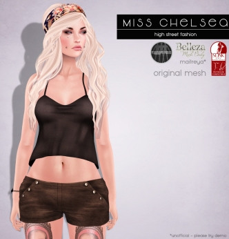Miss Chelsea - fameshed - Simple tank & buttoned shorts - Belleza, Slink and Maitreya