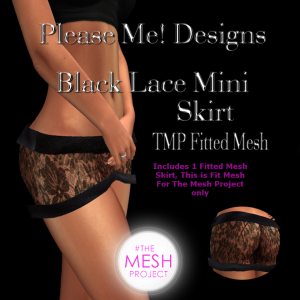 Please Me Designs - Black Lace Mini - TMP