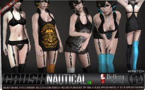 Razor - Dark Style Fair - Crush Nautical - Belleza and Slink