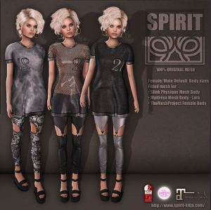 SPIRIT - anne long tshirt and leggings @ n21 - slink TMP maitreya