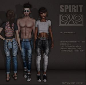 SPIRIT - Louisa outfit jeans & top - Shiny Shabby - Maitreya Slink and TMP