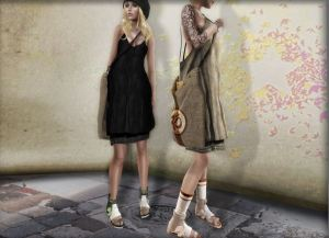 SYS - Chloe Dress - Shiny Shabby - Maitreya and TMP+ fitmesh bag