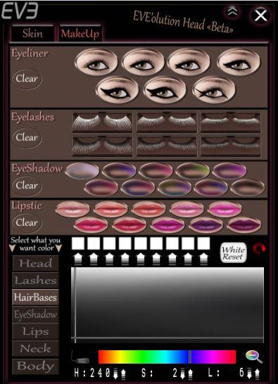 HUD - Eve Make-up