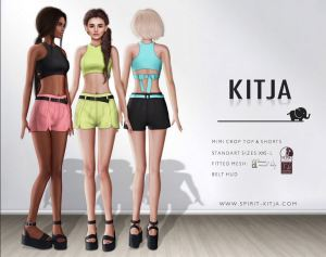 KITJA - Mimi crop top and shorts @ Collabor88