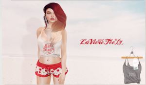 Laviere & Teefy - Knotted Tank & Anja shorts @ collabor88 - slink & Mait