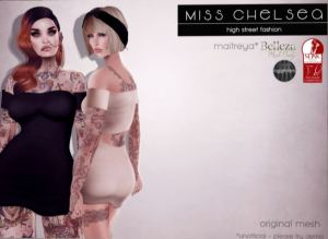 Miss Chelsea @ fameshed -bodycon dress - slink belleza mait