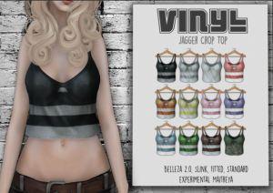 Vinyl - Jagger crop top