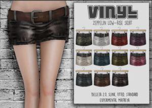 Vinyl - Zeppelin Low rise skirt