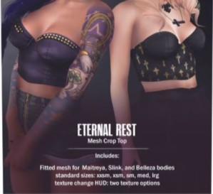 Atomic - Eternal Rest top @ N21 - Belleza, Maitreya, Slink