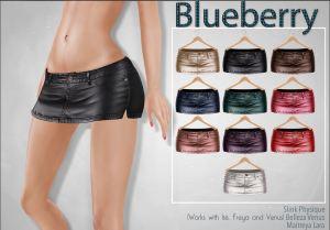 Blueberry (mix) - leather skirt - slink, mait, belleza all v2