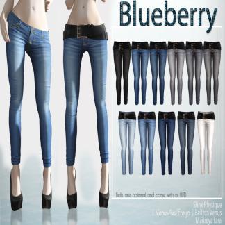 Blueberry - Rica Skinny Jeans - Belleza Freya, Isis, Venus, Maitreya & Slink sizes