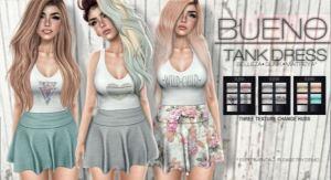 Bueno - Tank Dress @ Kustom9 - slink mait belleza venus