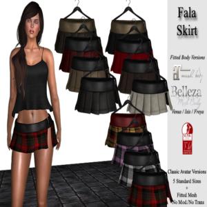 DE Designs Fala Skirts - belleza venus isis freya slink maitreya