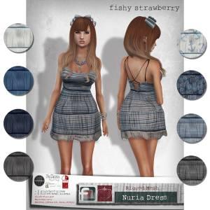 Fishy Strawberry - Nuria Dress @ Kustom 9 - Slink Mait Belleza isis freya venus
