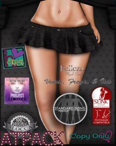Heartistic - Ruffle Jean Skirt @ PL - Slink, Belleza Isis, Freya and Venus, slink
