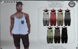 Kenvie - top and shorts @ PL - Aesthetic and TMP