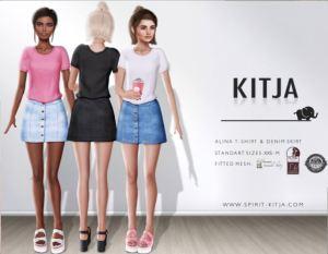 KITJA - Alina shirt and shorts - chapt four - slink mait