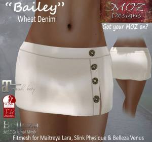 Moz Designs - Bailey skirt - Maitreya, slink & belleza venus