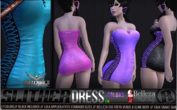 Razor - Slither dress @ Suicide Dollz- Belleza Venus, isis and freya