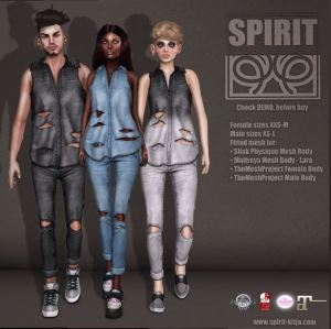 SPIRIT - Top and jeans @ TMD - Slink, Mait & TMP male and female
