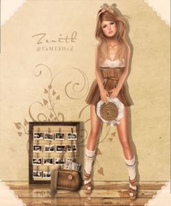 Zenith - bra top with skirt - fameshed maitreya
